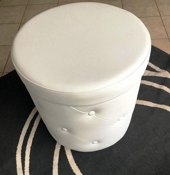 Pouf contenitore bianco